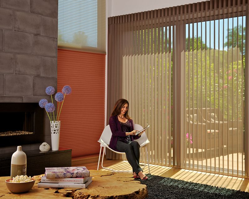 Lovely Vertical Bamboo Shades