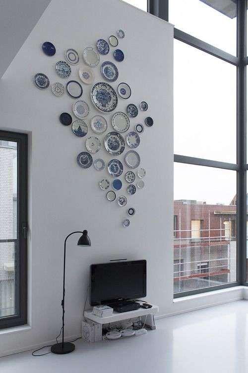 Decorare una parete con i piatti decor architecture - Decorare una parete ...
