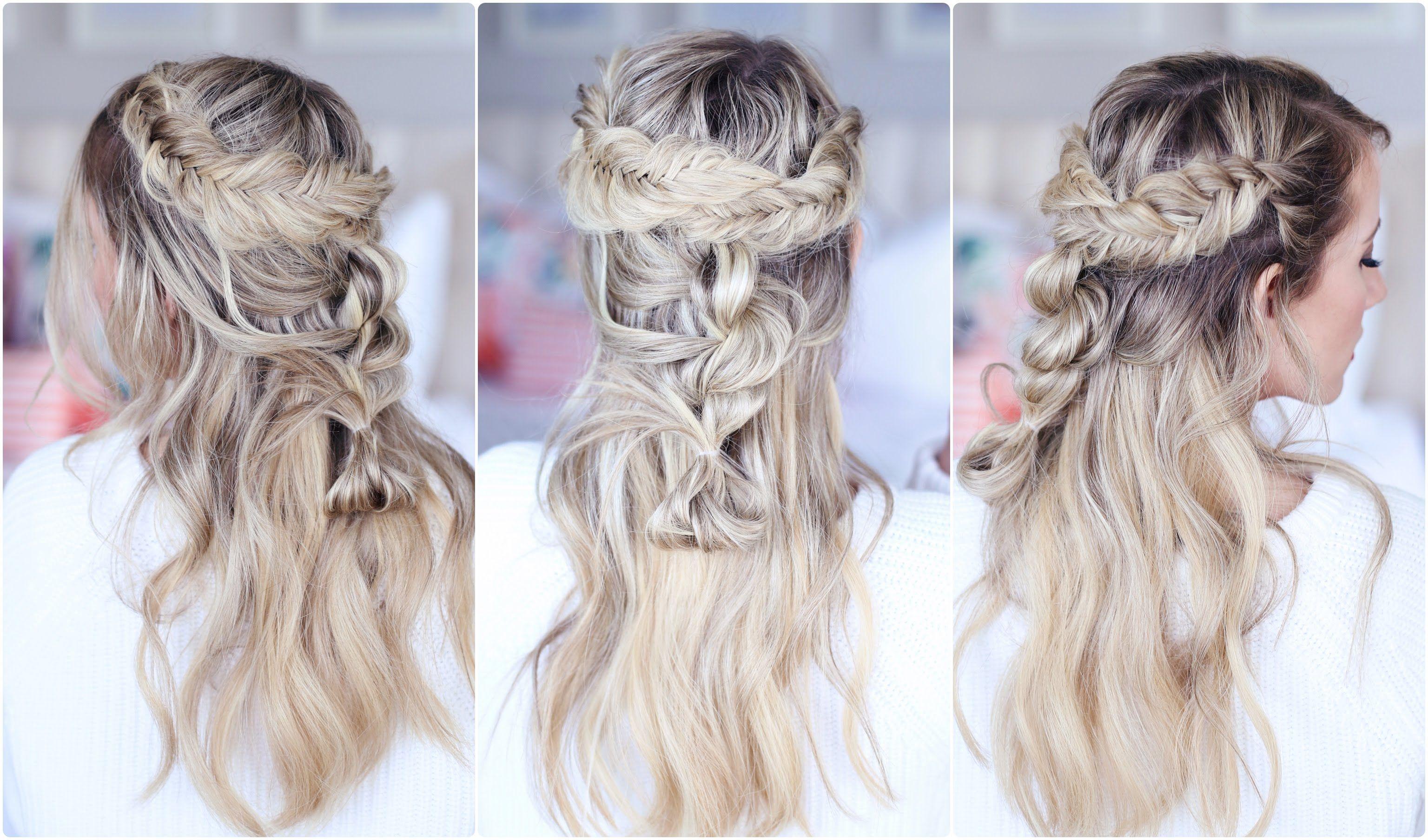 mixed braid half up | cute girls hairstyles | hurr | hair
