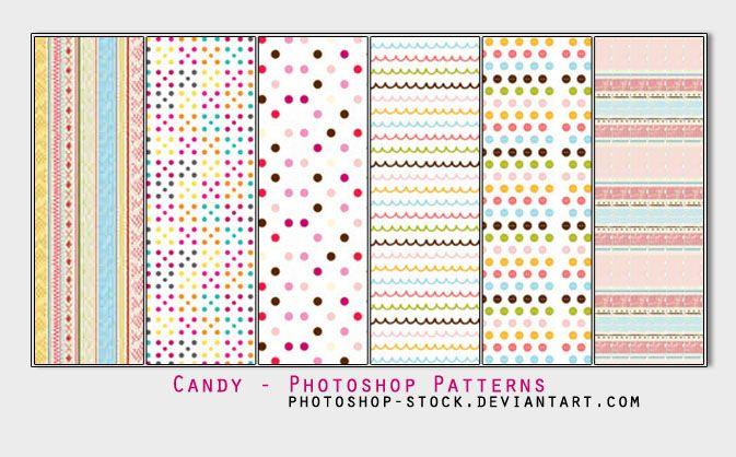Candy - Photoshop Patterns by photoshop-stock deviantart com on