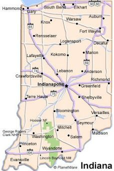 Richmond Indiana Map Indianapolis | States Song verse 4 | Indiana map, Richmond indiana