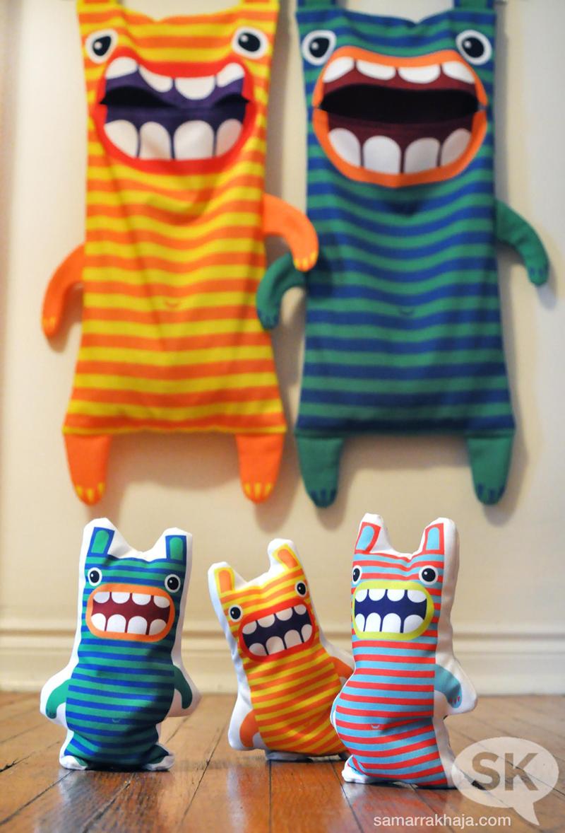 Hungry Monster Laundry Bags | Nähen | Pinterest | Wäschetasche ...
