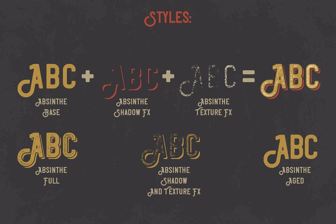 Absinthe Font Vintage Fonts Unique Fonts Vintage Labels