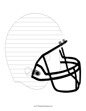 Football Players Will Like Writing On This Printable Helmet Penmanship Paper