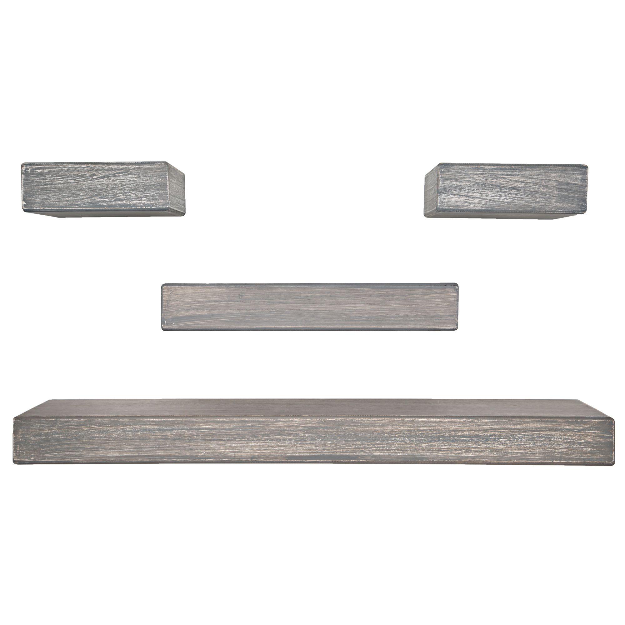 4 Piece Distressed Chunky Ledge Set Grey Basement Decor Gordmans Spa Rooms