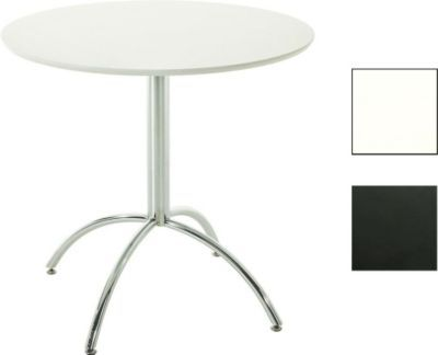 Bistro-Tisch rund Ø 80 cm MARVILLE, Holz / Metall, Höhe 75 cm ...