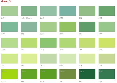 Kelly Green Color Chart