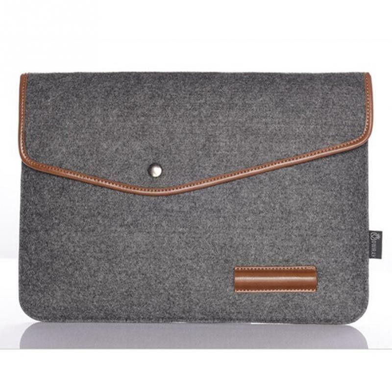 "4 size laptop inner hasp bag 11"" 12"" 13"" 15"" wool felt envelope notebook laptop bag for Macbook"