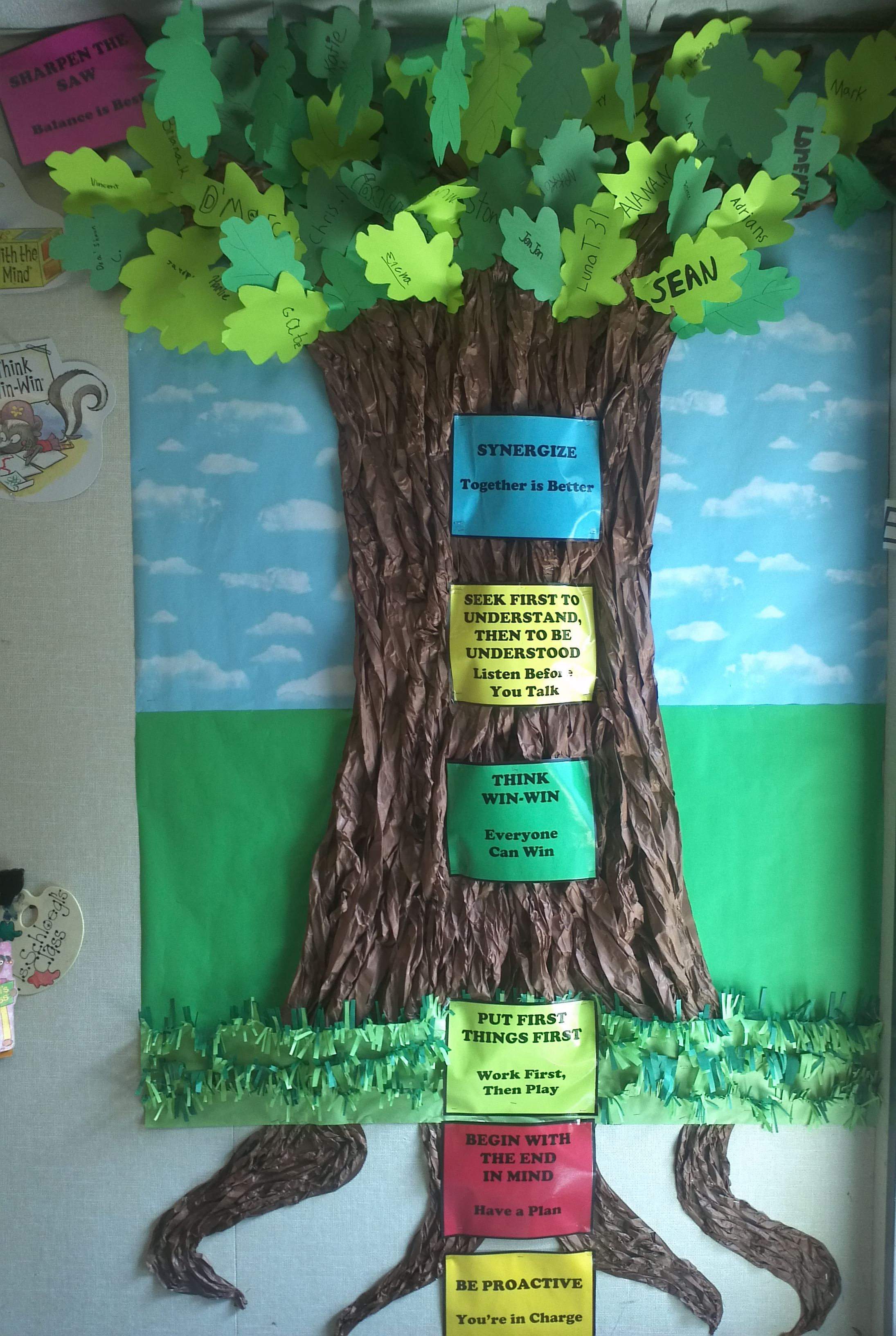 Our 7 habits tree in rsp the leader in me pinterest for 7 habits tree mural