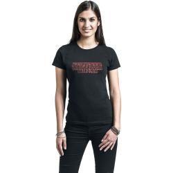 Stranger Things Neon Logo Damen-T-Shirt – schwarz – Offizieller & Lizenzierter Fanartikel