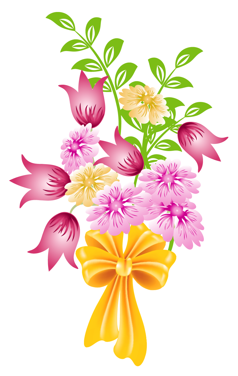 Pink lily flower transparent image the cliparts - Spring Flower Bouquet Clip Art Background 1 Hd Wallpapers