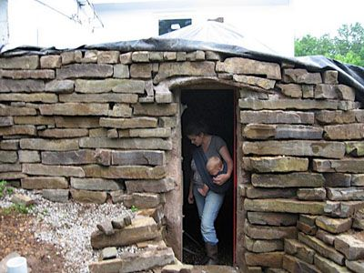 DIY Root Cellar #earthbag - could use this for doghouse