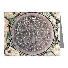 Nola Watermeter Cover Note Cards (Pk of 10) > Nola Watermeter Cover > NolaOriginals