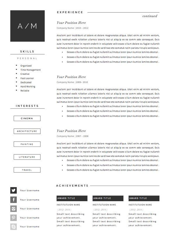 Resume Template  Page Pack  Smoke  Resumes  Cv