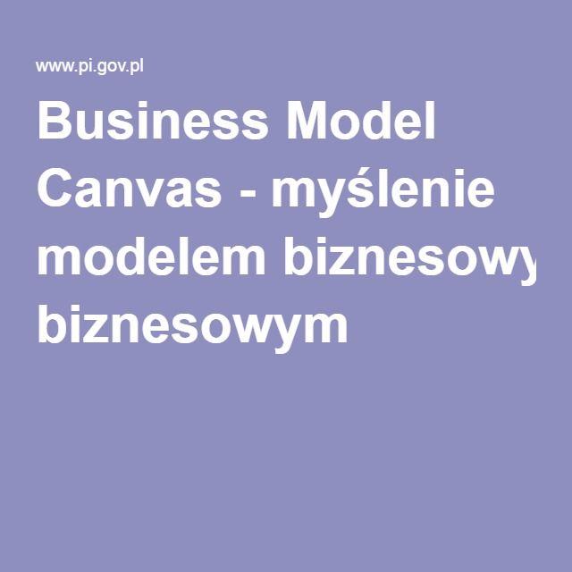 Business Model Canvas - myślenie modelem biznesowym