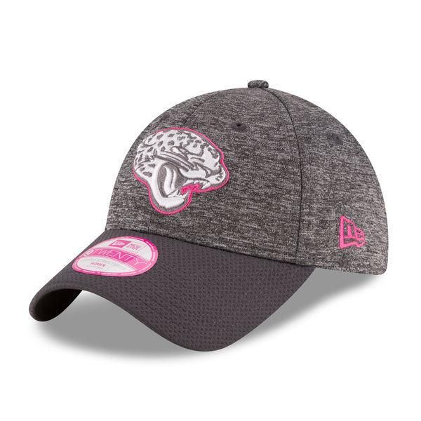 quality design be618 c8854 norway nfl jacksonville jaguars new era heather gray 2016 breast cancer  awareness sideline ls 9twenty adjustable