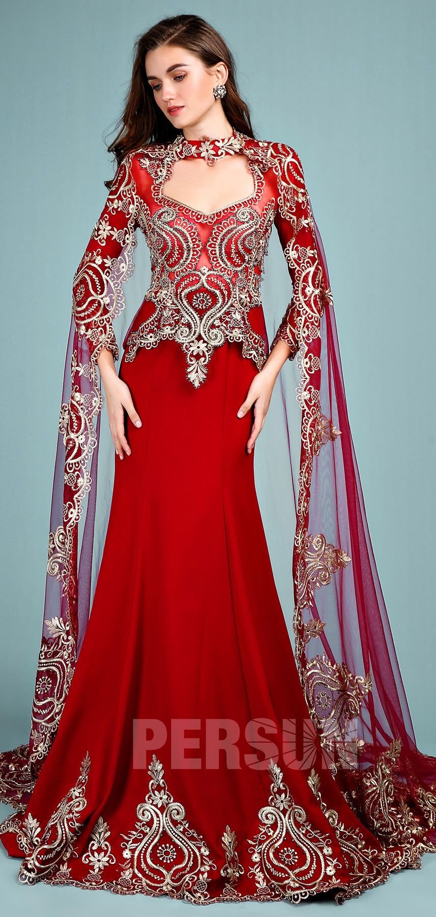 Anju : Robe de mariée rouge style indien