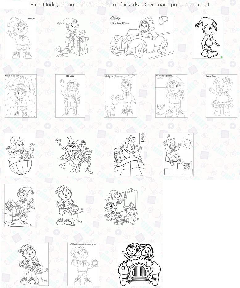 Coloring Pages --- Http://coloringtop.com/best-coloring-pages/noddy-coloring -pages Coloring Pages, Color, Diagram