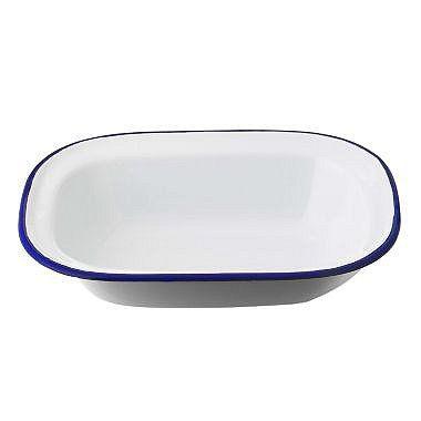 Traditional Enamel 20cm Oblong Pie Dish - From Lakeland