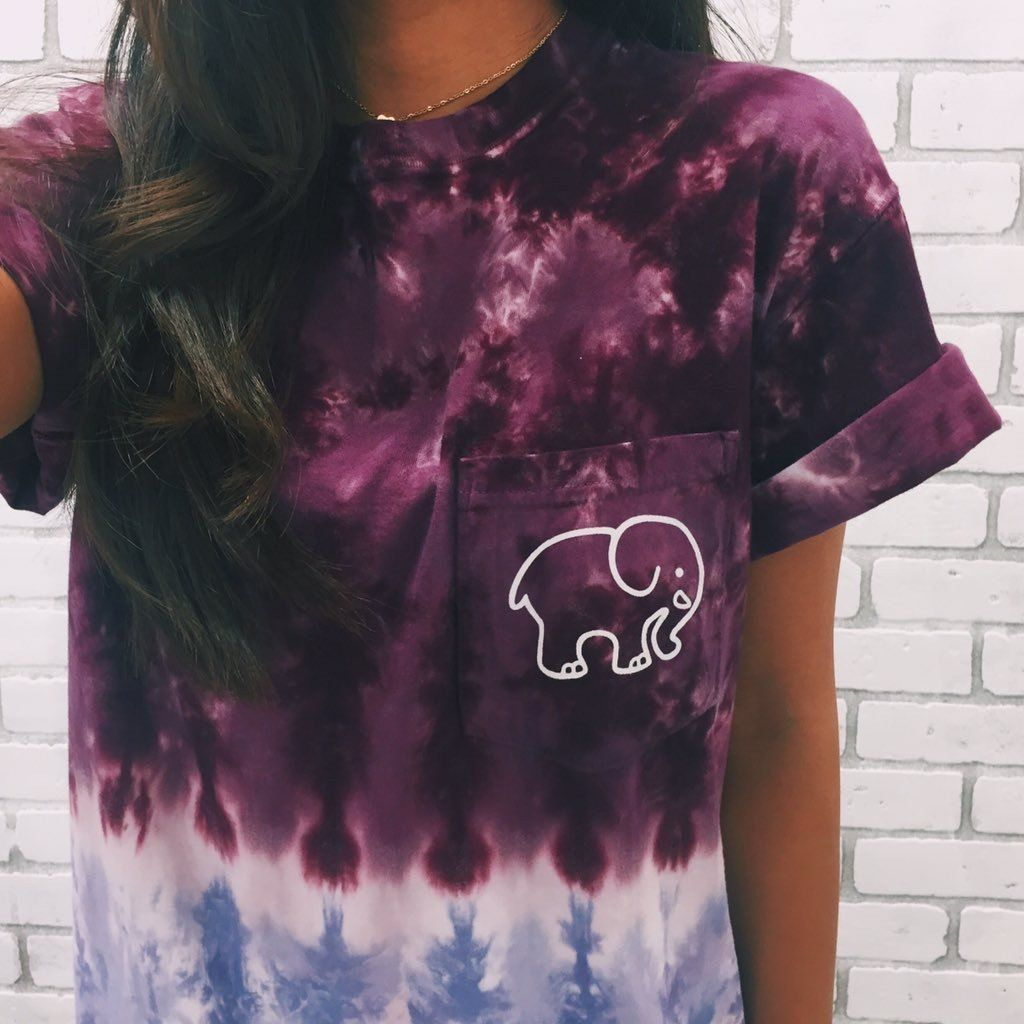 Tie Dye Ombre Classic Print Short Sleeve Fashion Tie Dye Cute Outfits [ 1024 x 1024 Pixel ]