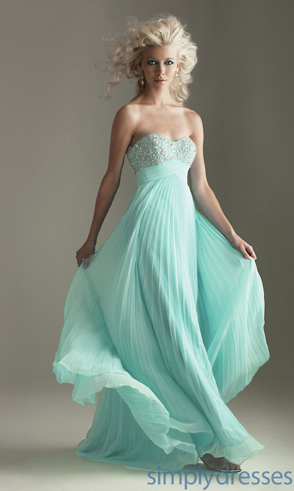 16fcf72e6 Strapless Pleated Prom Dress