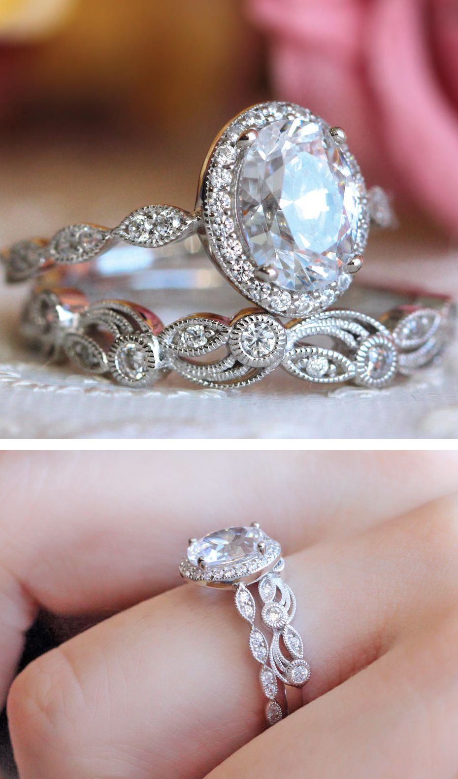 Art Deco Diamond Engagement Ring Vintage Style Rings Jewelry