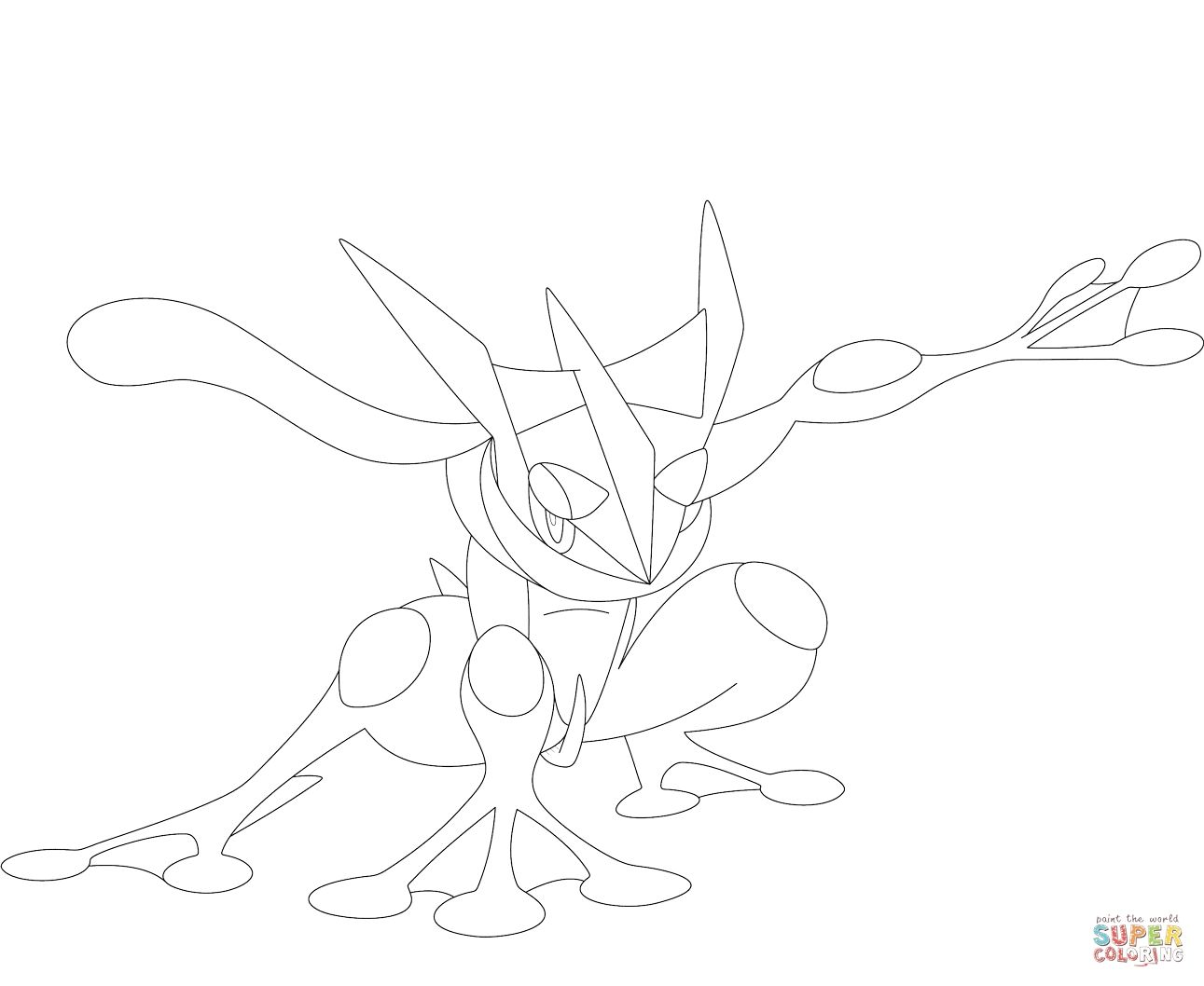 Greninja Pokemon Coloring Page Coloring Pages Allow Kids To Accompany Their Favorite Characters On An Pokemon Coloring Pages Coloring Pages Pokemon Coloring