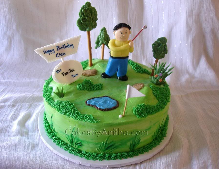 golf theme cakes Happy Birthday dear friend and heres to many