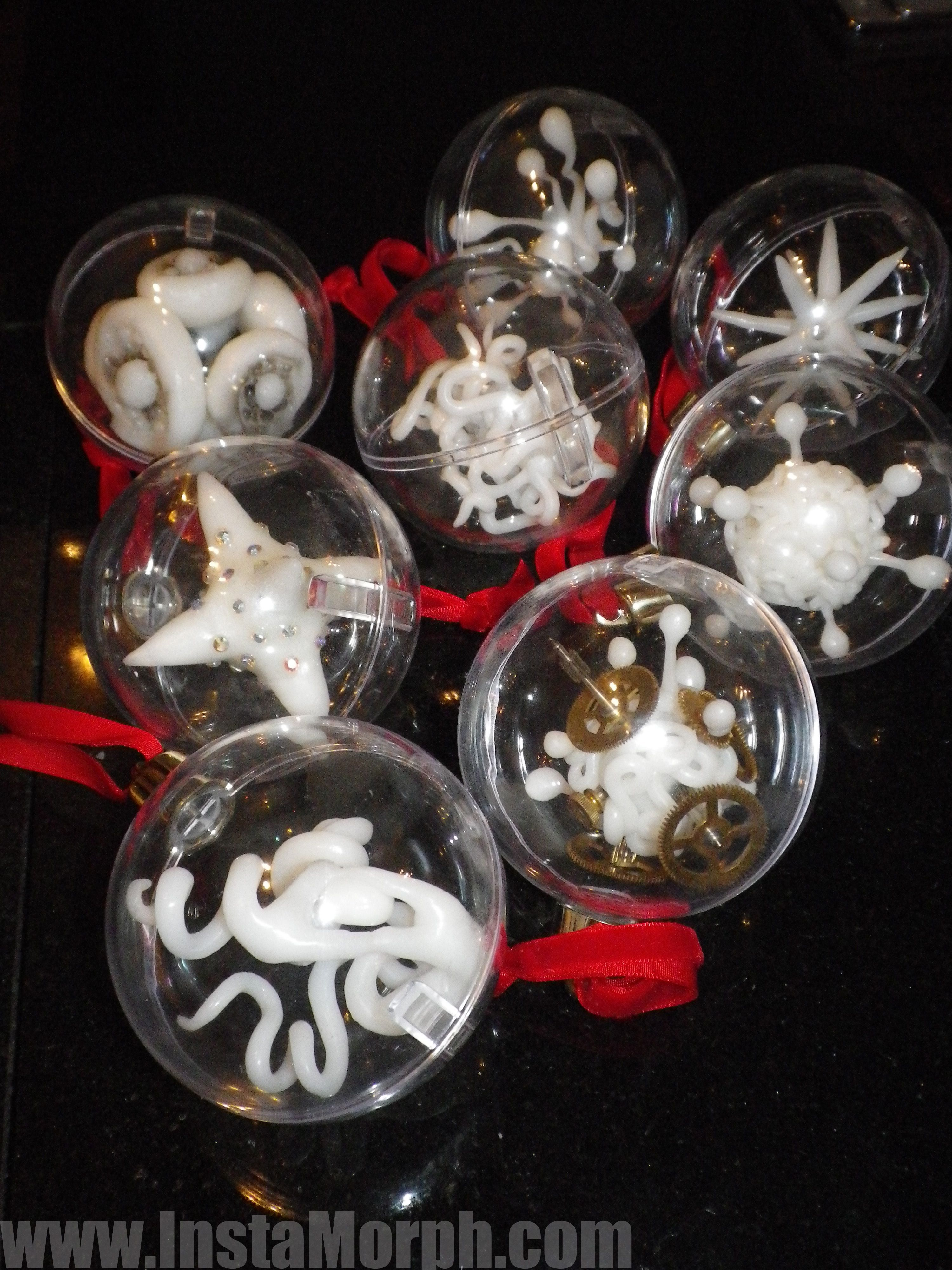 ornaments using instamorph plastic