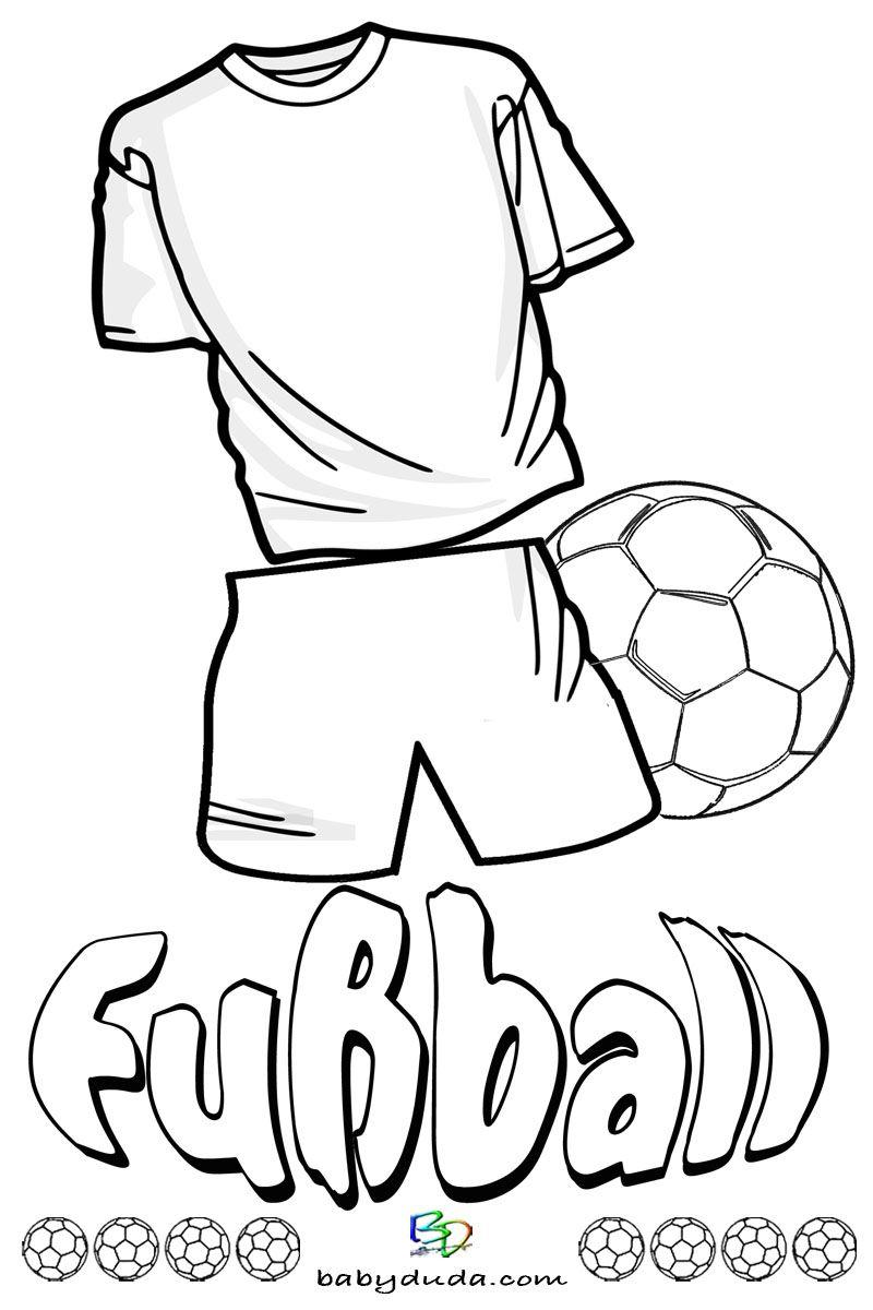 Fussball Ausmalbilder Spielfeld Ball Fussballfieber Coloring