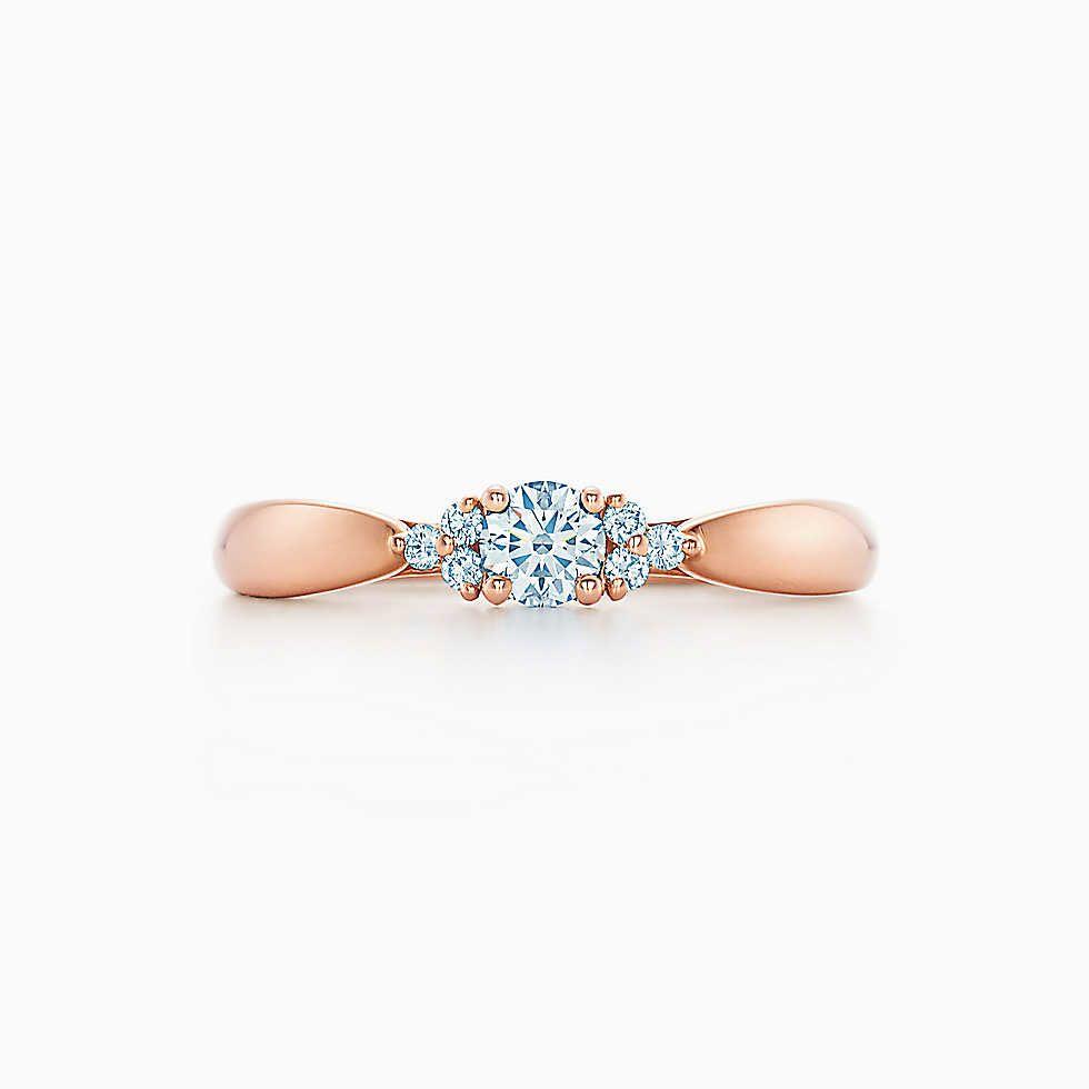 Tiffany Harmony® mit seitlichen Steinen, 18 Karat Roségold.