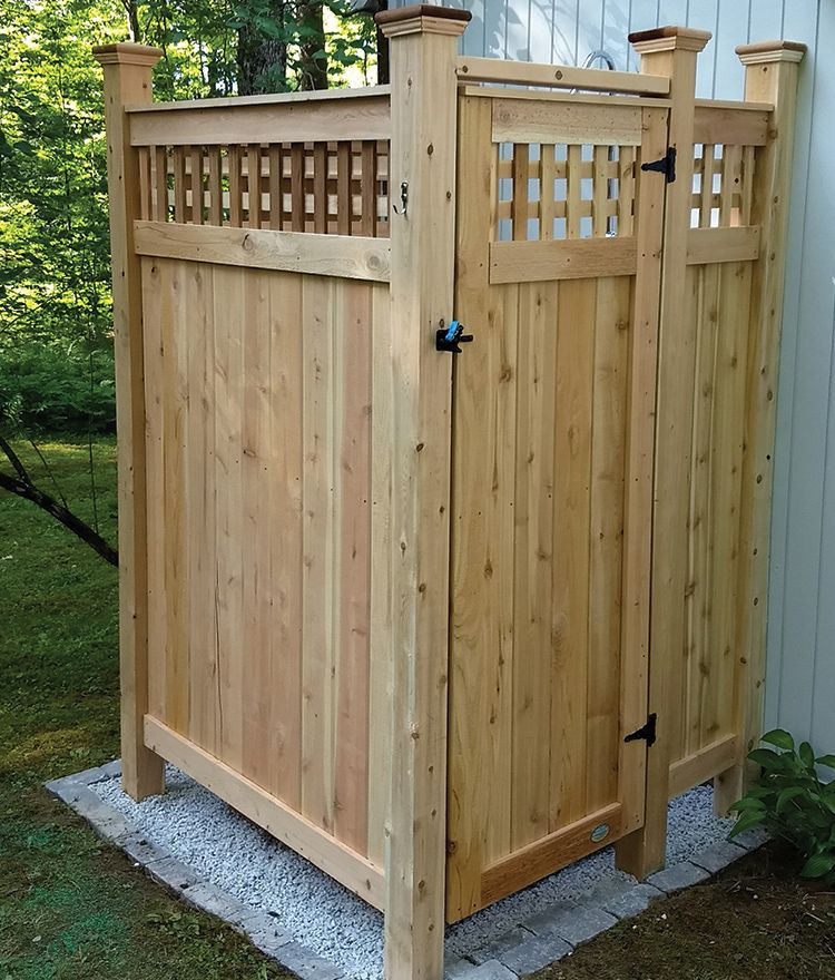 Cedar Outdoor Shower Standard House Mount With Images
