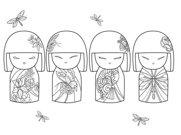 daruma doll coloring pages - photo#9