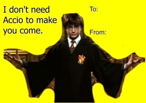 The 18 Best Valentine S Day Cards For The Harry Potter Addict In Your Life Harry Potter Valentines Funny Valentines Cards Valentines Memes