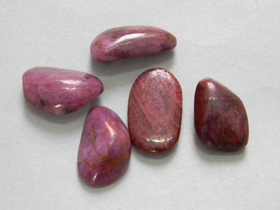 5 Pcs lot Natural Red Ruby Tumble 145 Carat 100% by KGNSHOP