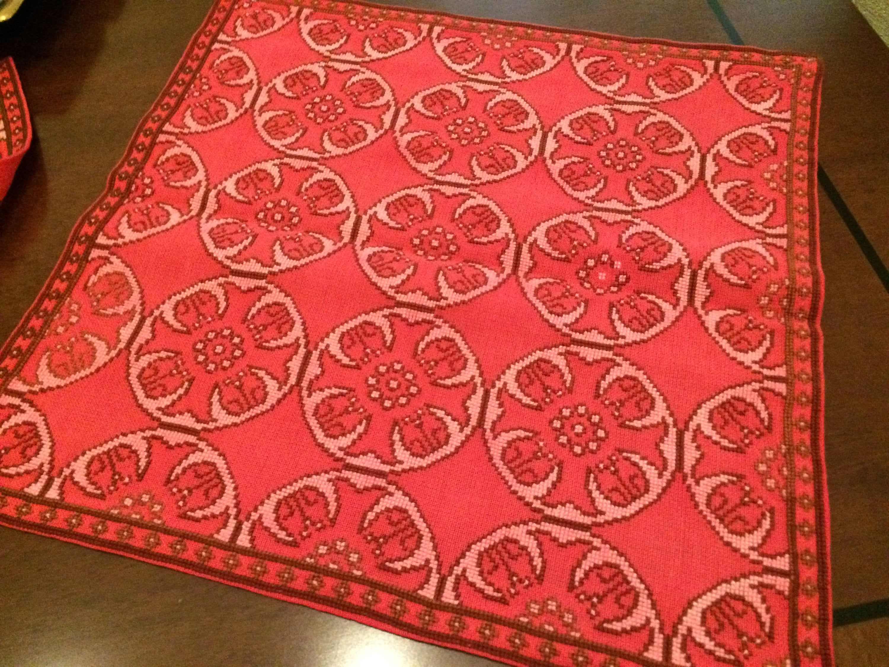 Handmade doily/ cross emboider/ doily/ red emroidered doily/ tablecloth #cotton #doilies #SquareDoilies #tablecloth #TableDecor #linen #RedDoilies #HomeDecor #NeedleWork #handmade