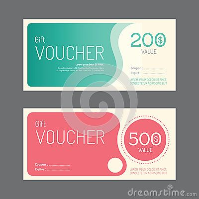 Vector gift voucher coupon template design paper label frame