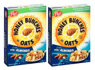 Post Honey Bunches Of Oats Cereal Coupon Only 1 24 Each