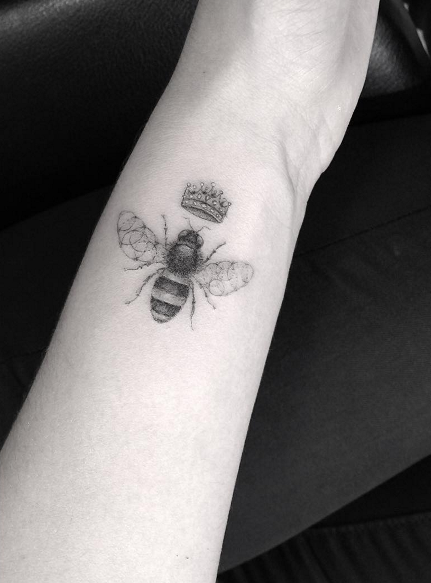 Half Needle Bee Tattoo By Doctor Woo