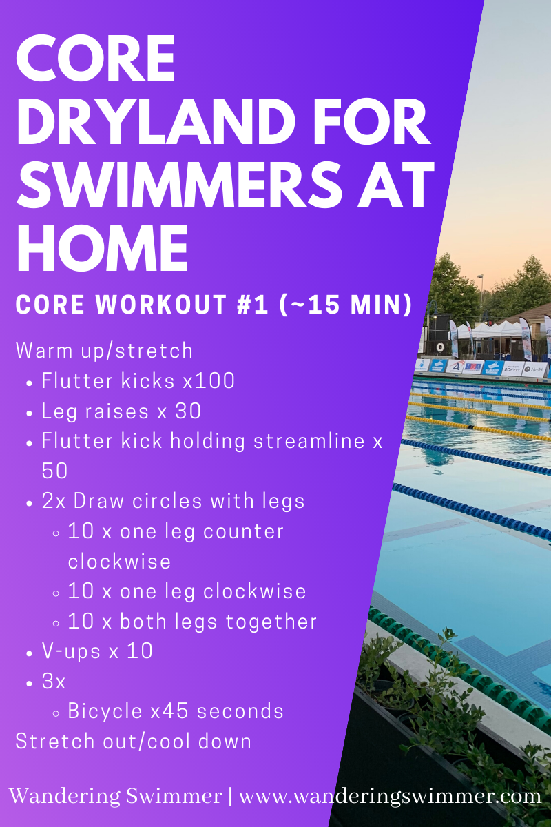 Core Dryland For Swimmers Workouts For Swimmers Dryland Workout Swimming Workout