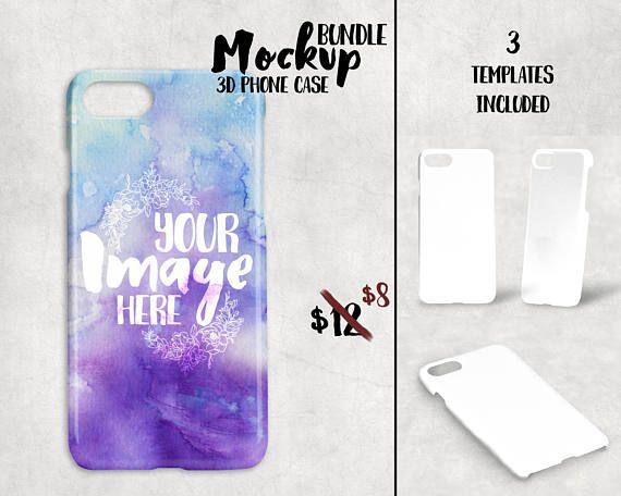 3D Iphone 7 Case Mockup Template