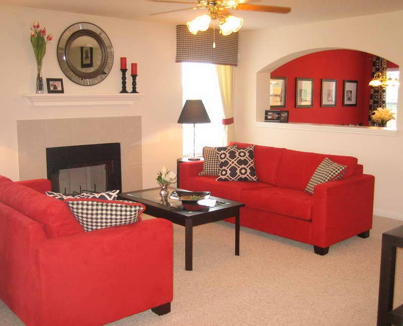 Paint Living Room With Red Sofa Interior Design Giesendesign