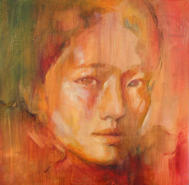 "Saatchi Online Artist: Evelyn Hamilton; Oil Painting ""Xiu SOLD"""