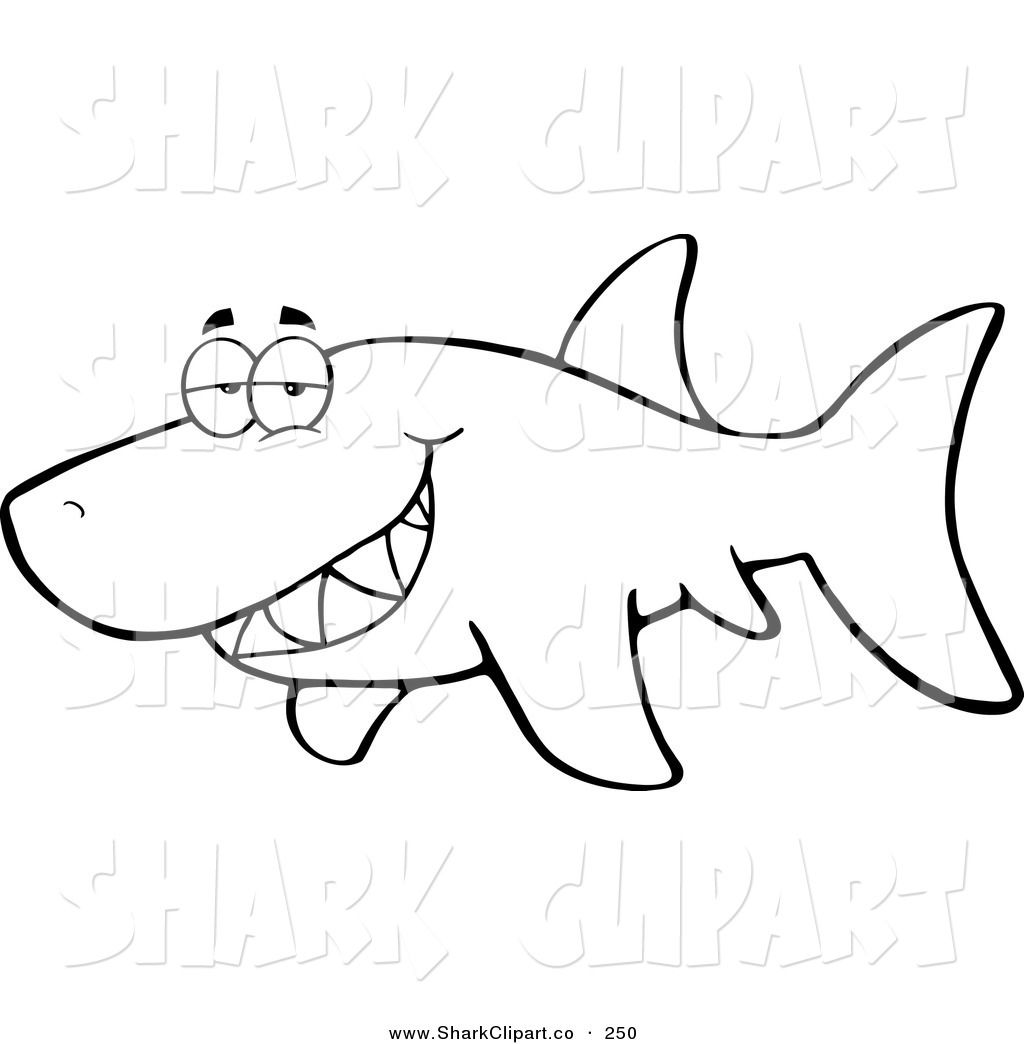 Coloring book outlines - Royalty Free Clip Art Of A Coloring Page Outline Design Of A Grumpy Shark Glancing Around This Shark Stock Shark Image Was Designed And Digitally Rendered