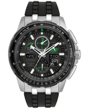 0fcca091425 Citizen Eco-Drive Men s Analog-Digital Skyhawk A-t Black Strap Watch 47mm  JY8051-08E - Black