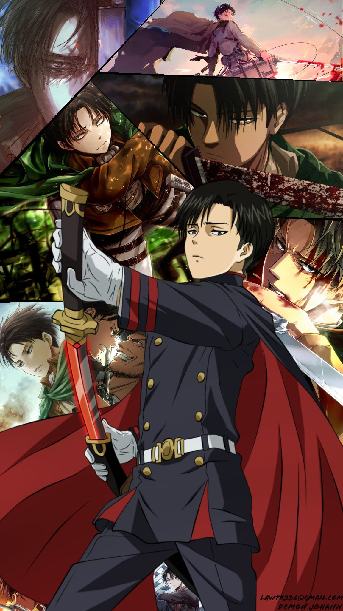 Levi Ackerman shingeki no kyojin attack on titan