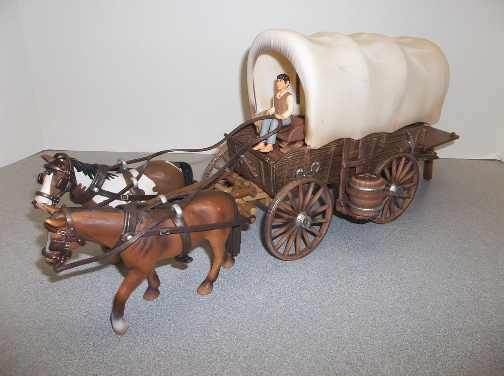 Retired Schleich 42024 Covered Wagon Play Set Complete W