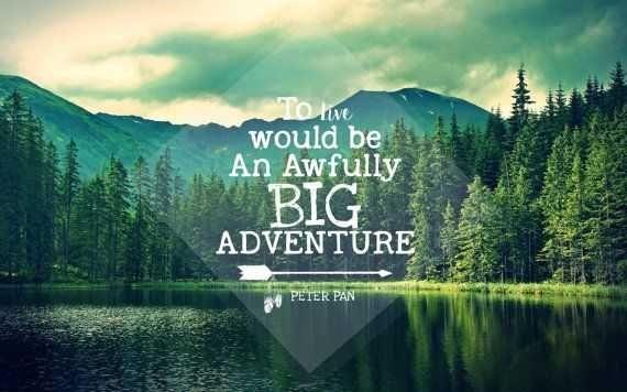 Peter Pan Quote Desktop Background