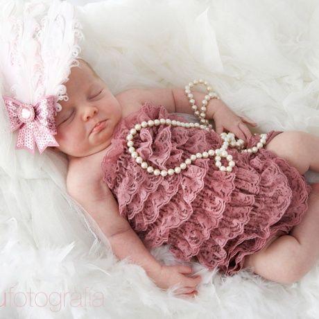 Cintas y tocados para bebes Plumas rosas Para sacar fotos monas a