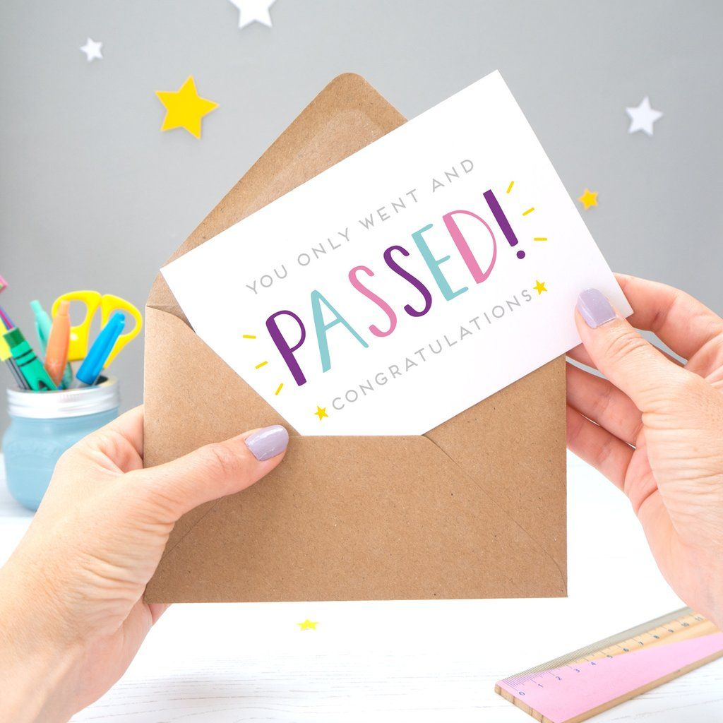 You Passed! Card Exam cards, Exam quotes, How to pass exams